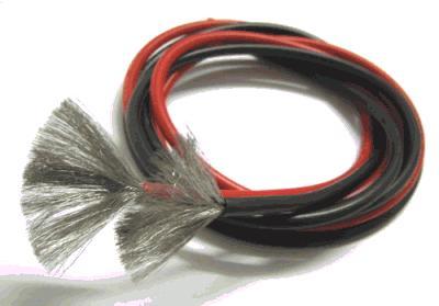 Провода черн. 1м и красн. 1м в силиконовой оболочке 20AWG