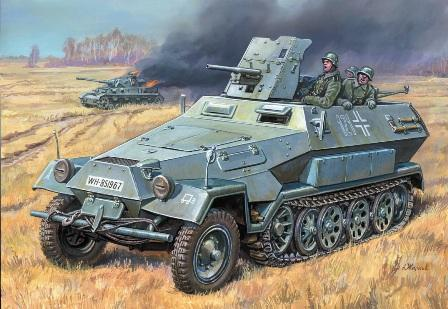 Бронетранспортер «Ханомаг» Sd.Kfz. 251/10AUSF B C