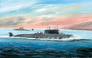 Атомная подводная лодка «Курск». Масштаб:1/350