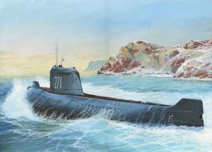 Атомная подводная лодка К-19. Масштаб:1/350