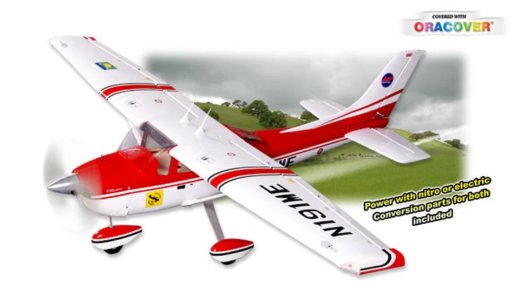 Радиоуправляемый самолет CESSNA 182, двс/электро, ARF, 1660мм