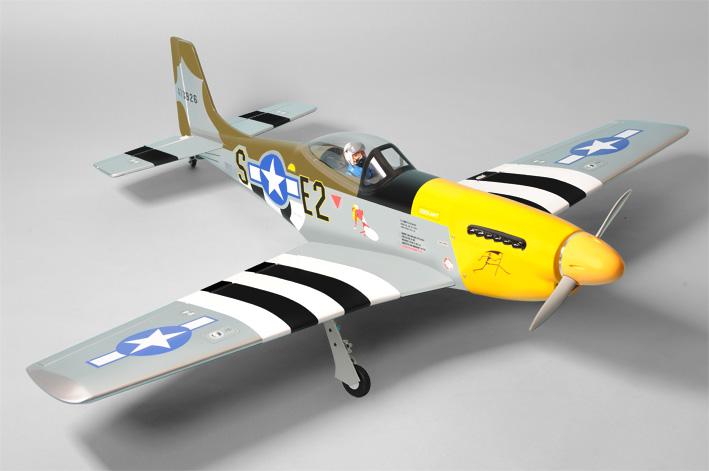 Радиоуправляемый самолет P51 Mustang, двс/электро, ARF, 1230мм