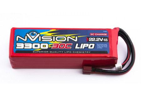 Силовой аккумулятор nVision 3300мА/час 6S 22.2В 30C