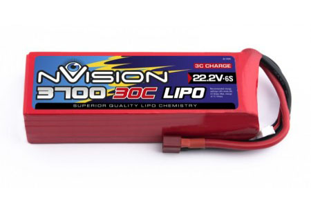 Силовой аккумулятор nVision 3700мА/час 6S 22.2В 30C