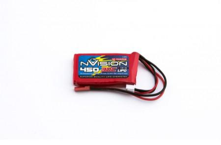 Силовой аккумулятор nVision 450мА/час 7.4В 2S 30C