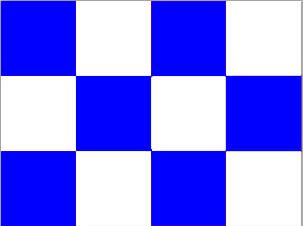 Плёнка для обтяжки Charly шашечка белый/синий, ш 640мм, м.п.