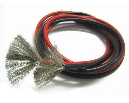 Провода черн. 1м и красн. 1м в силиконовой оболочке 22AWG