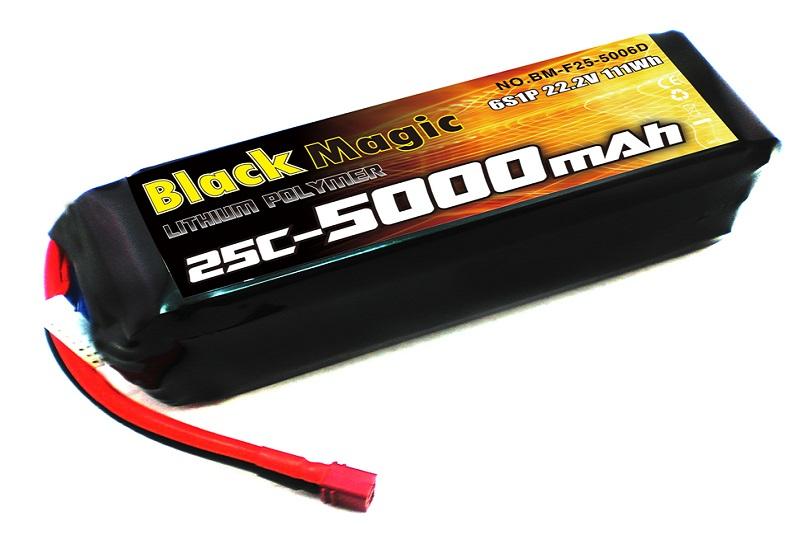 Аккумуляторная батарея BLACK MAGIC 5000мА/ч 22.2В 6S 25C
