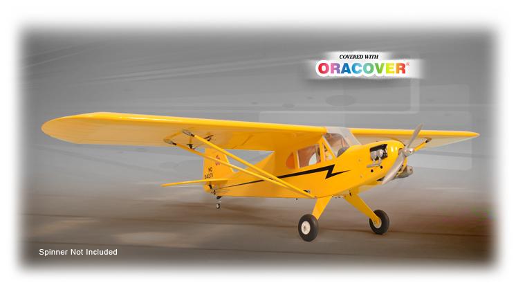 Радиоуправляемый самолёт PIPER J-3 CUB, электро, ARF, 2150мм
