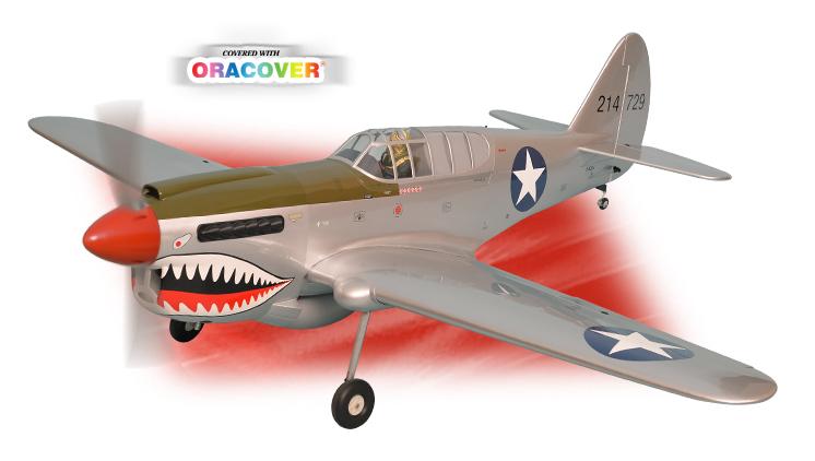 Радиоуправляемый самолёт P-40 WARHAWK, двс/электро, ARF, 2040мм