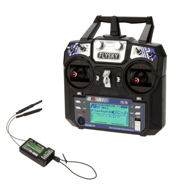 Аппаратура радиоуправления 6 каналов, FlySky i6 + iA6B (TX, RX)