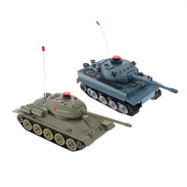 Радиоуправляемый Танковый бой HUAN QI555 Tiger против T-34