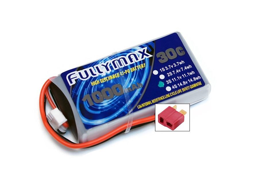 Силовой аккумулятор Fullymax 1000мА/час 3S 11.1В 30C