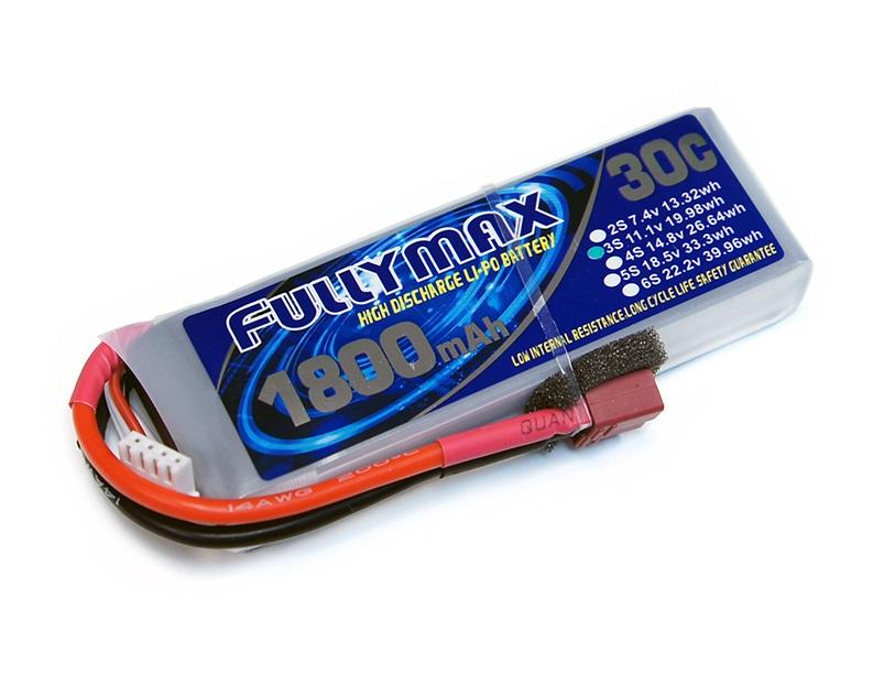 Силовой аккумулятор Fullymax 1800мА/час 3S 11.1В 30C