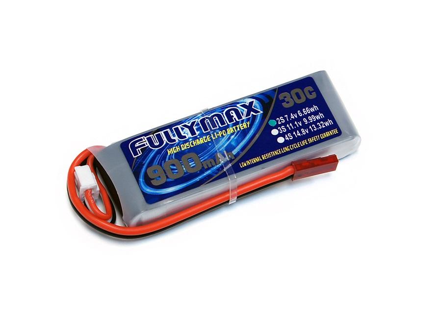 Силовой аккумулятор Fullymax 900мА/час 2S 7.4В 30C