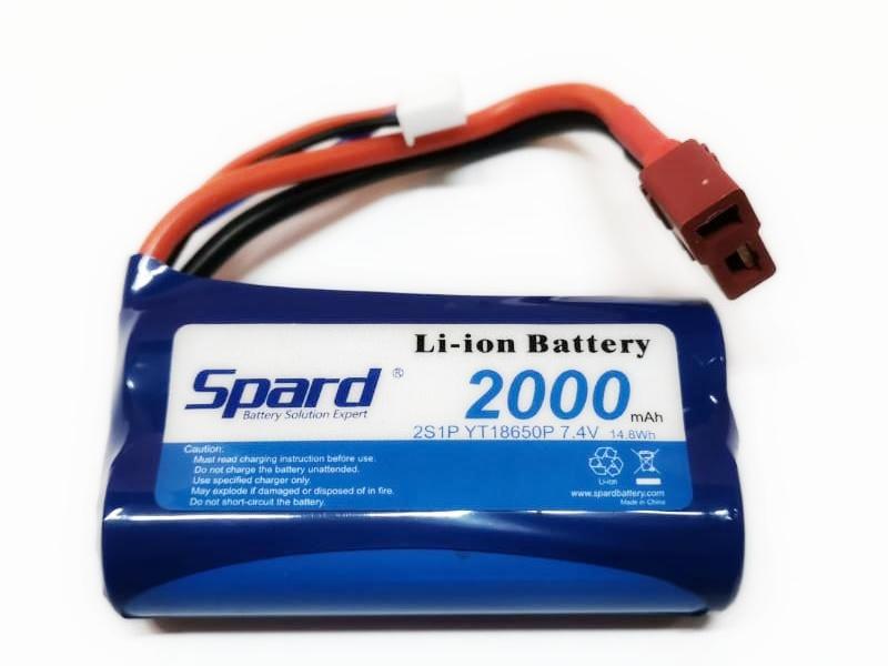 Spard LIIon 2000mAh, 7.4V для Remo Hobby 1/16