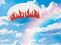 """Воздушный змей управляемый парашют """"Пламя 140"""""""