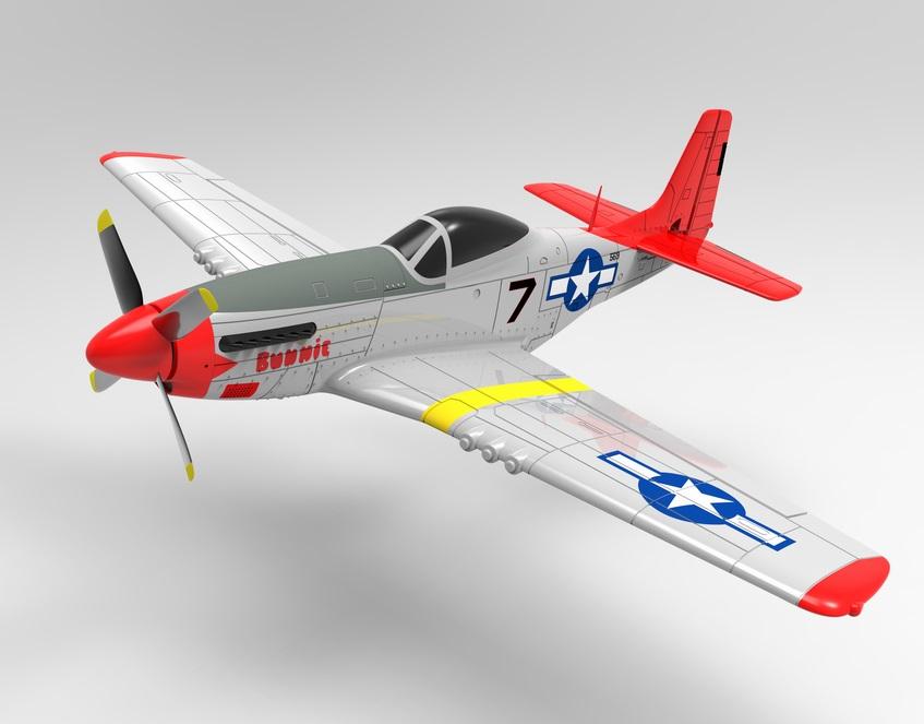 Радиоуправляемый самолёт Volantex 768-1 Mustang PNP