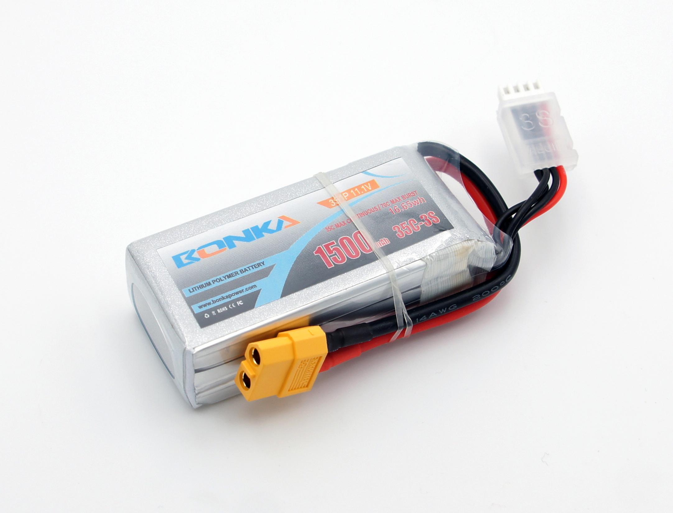Силовой аккумулятор Bonka 1500мА/час 3S 11.1В 35C