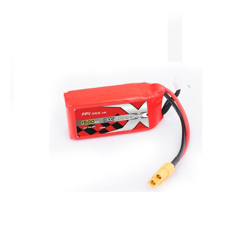Силовой аккумулятор ManiaX 1500mAh, 4S, 14.8В, 130C